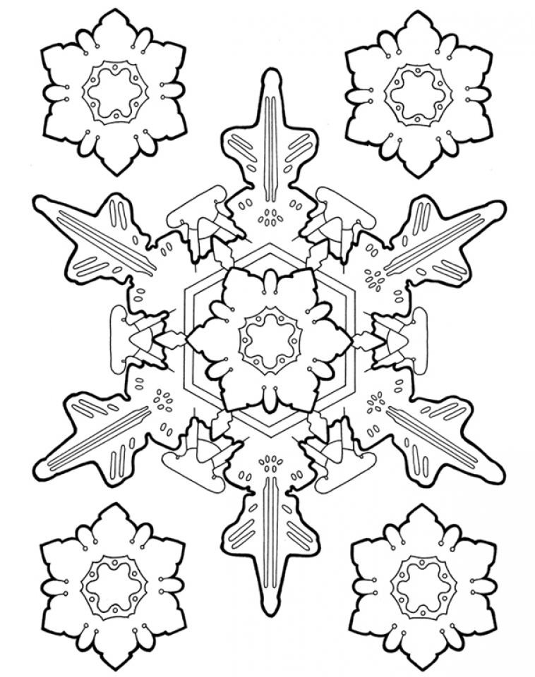 758x960 Get This Printable Snowflake Coloring Pages For Adults !