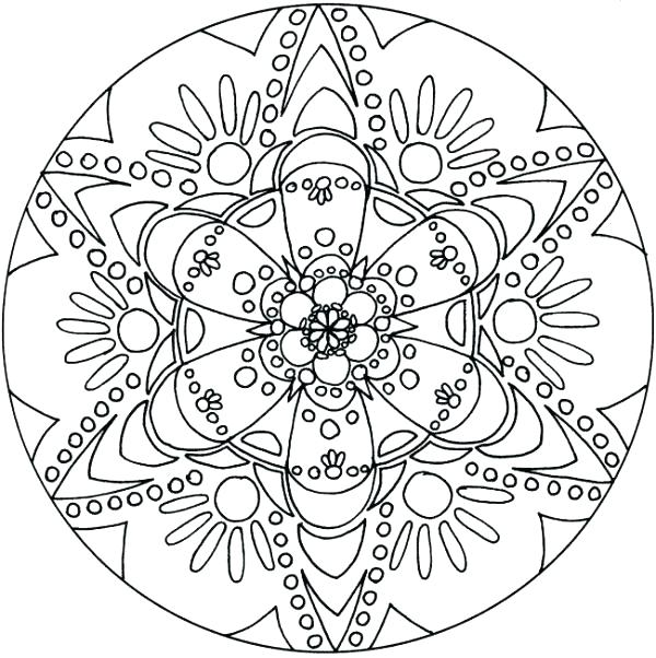 600x602 Mandala Coloring Pages Snowflake Color Pages Free Coloring Page