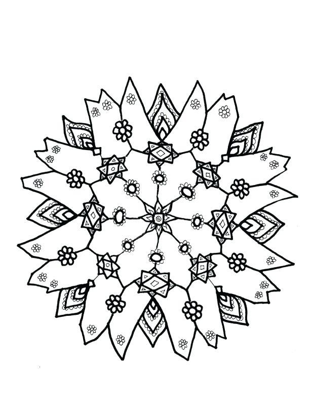618x795 Printable Snowflake Patterns Easy Snowflakes Template To Print