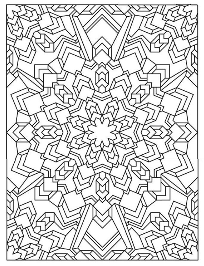 Snowflake Coloring Pages For Adults at GetDrawings.com | Free for ...