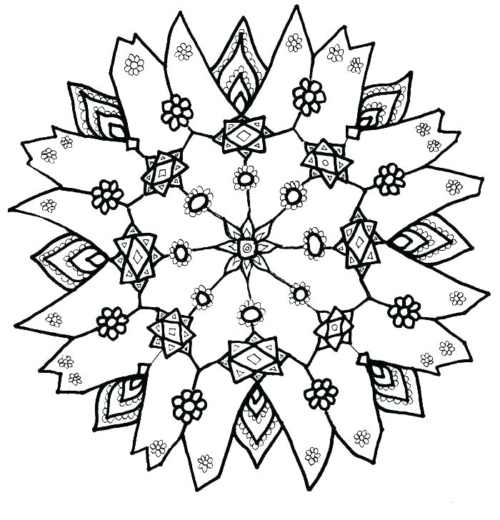 700x728 Snowflake Coloring Pages For Adults Snow Flake Coloring Page