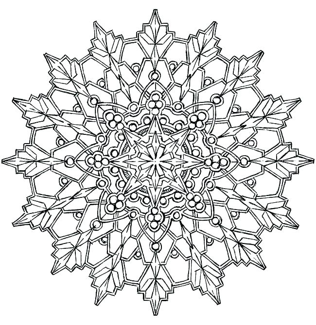 650x670 Snowflake Coloring Pages Snowflakes Coloring Page Snowflake