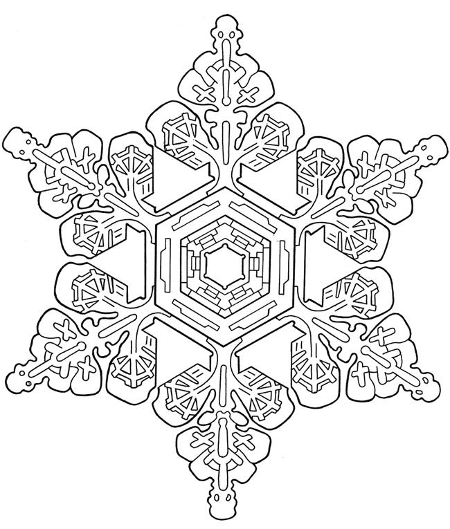 650x765 Snowflake Mandala Coloring Pages Coloring For Kids Snowflake