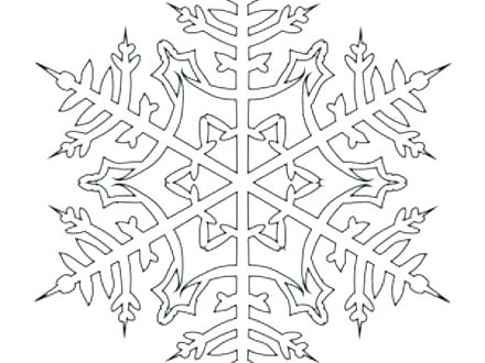 440x330 Printable Snowflake Coloring Pages