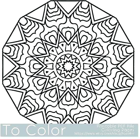 570x565 Snowflake Coloring Page