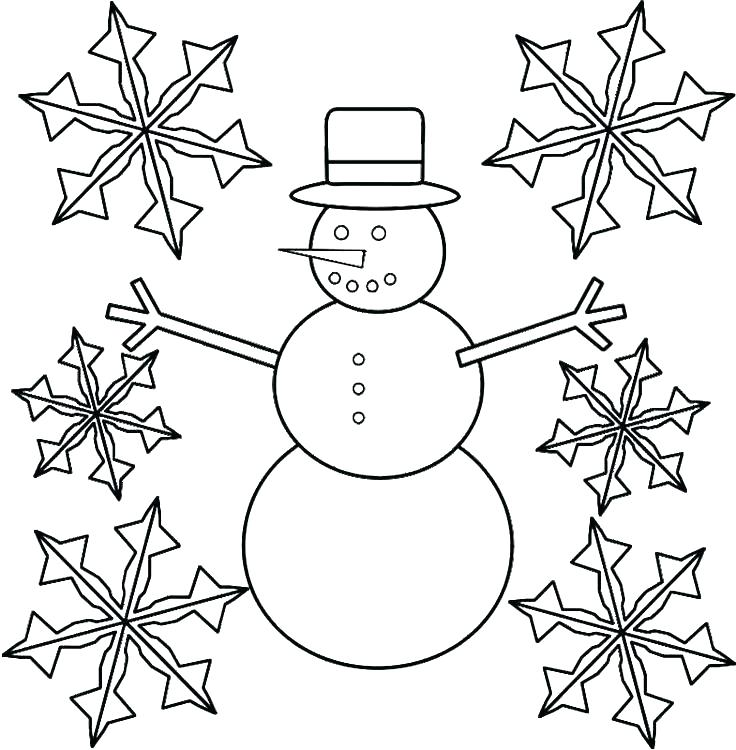 736x750 Coloring Pages Snowflakes Snowflake Coloring Pages