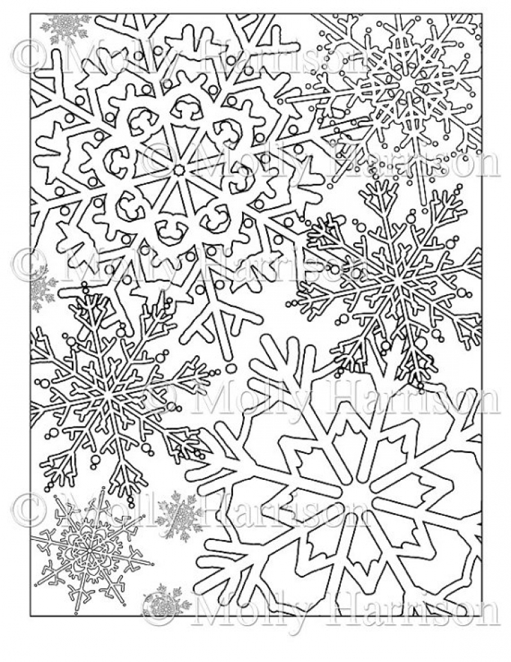 741x960 Get This Printable Snowflake Coloring Pages For Adults !