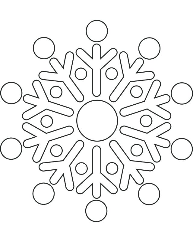 640x800 Minimalist Mandala Free Coloring Pages Kids Snowflakes Book