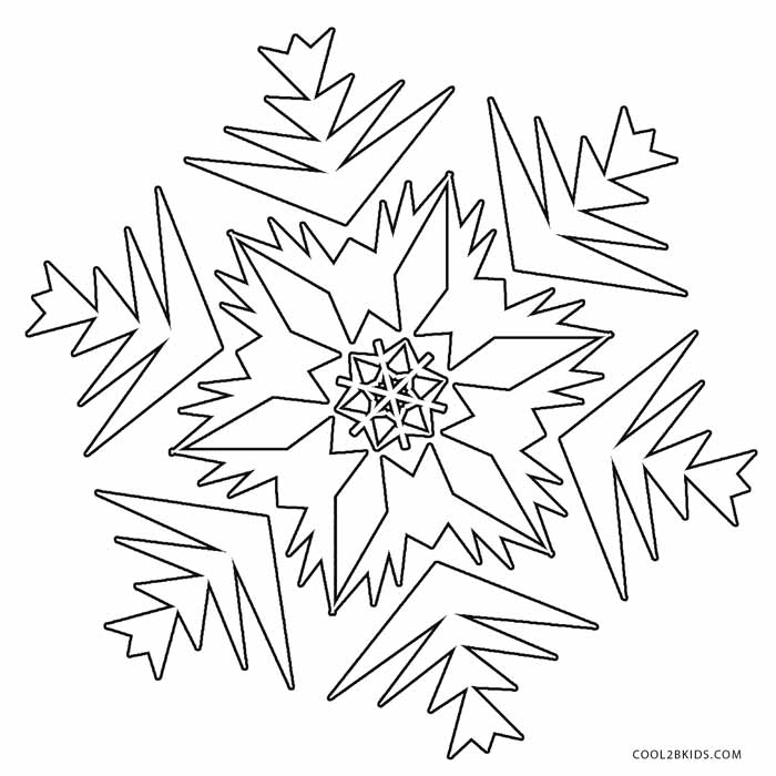 700x700 Printable Snowflake Coloring Pages For Kids