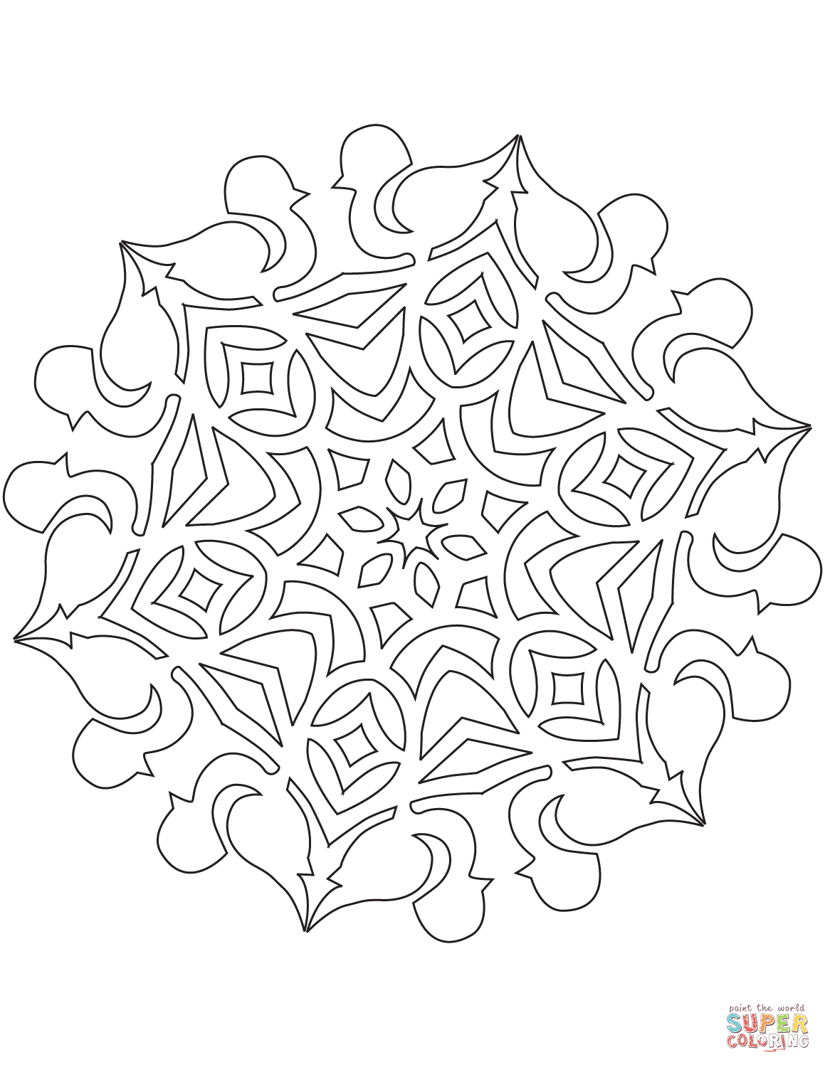 1159x1500 Promising Snow Flake Coloring Pages Printable