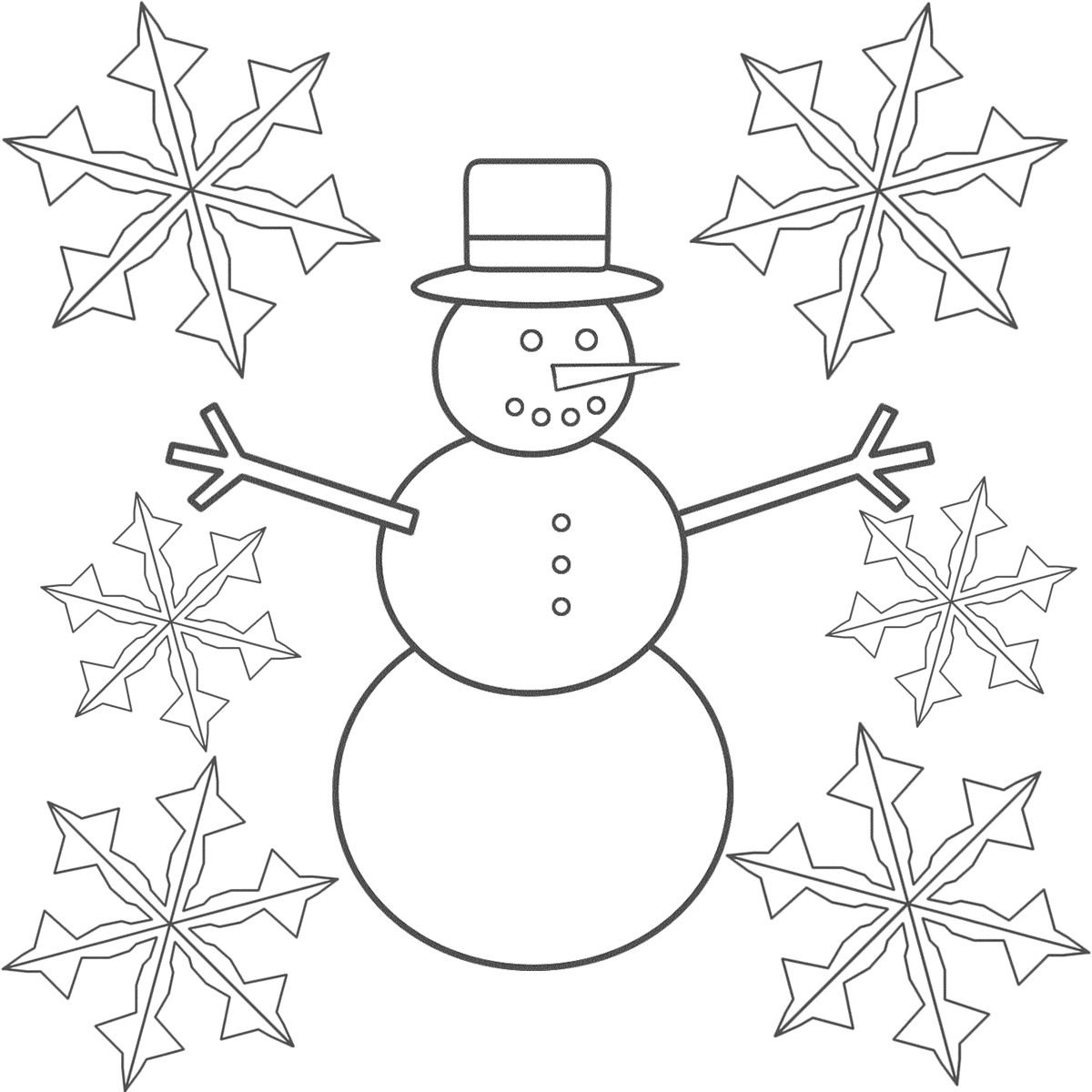 1200x1200 Snow Flake Coloring Pages