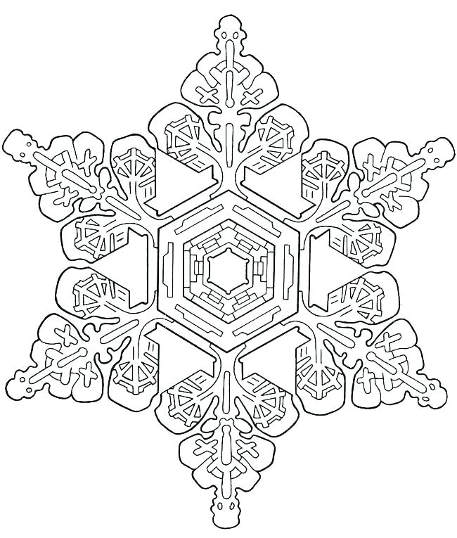 650x765 Snowflake Color Pages Coloring Pages Snowflakes Coloring Pages