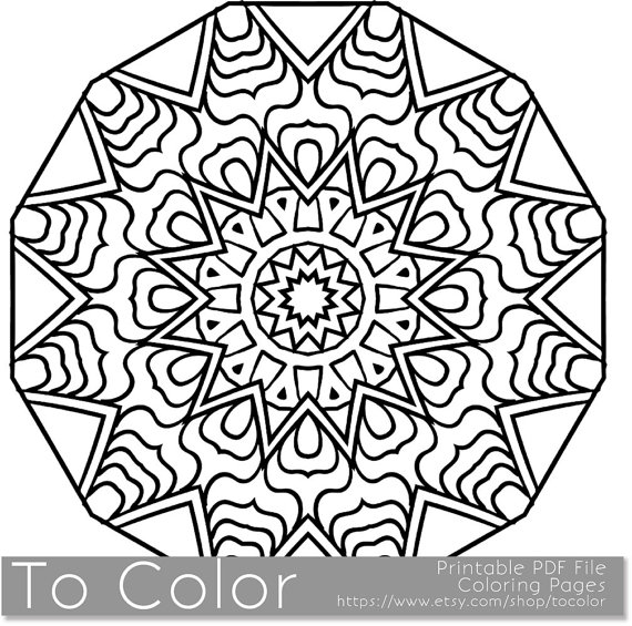 570x565 Snowflake Coloring Pages For Adults