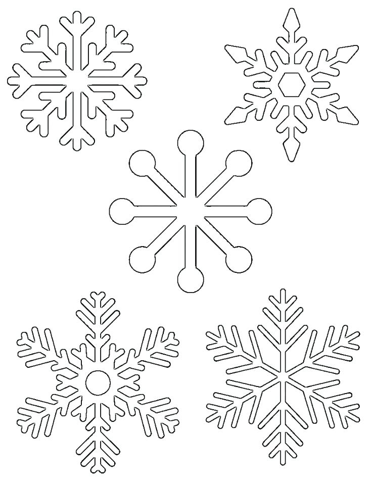 736x952 Snowflake Template Free Download Folding Snowflake Template