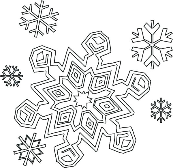 600x582 Amazing Mountain Coloring Pages Print Printable Snowflake For Kids