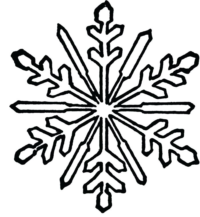 700x759 Detailed Snowflake Coloring Pages