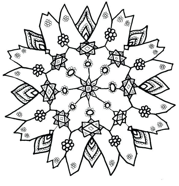 700x728 Free Printable Snowflake Coloring Pages