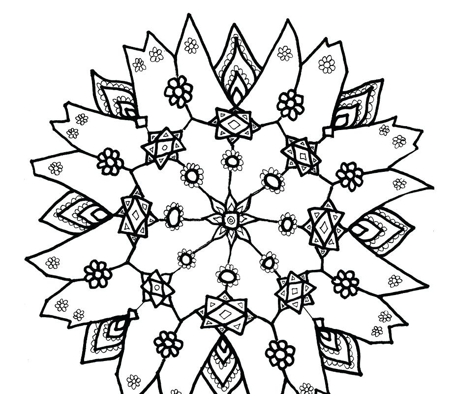 927x800 Free Snowflake Coloring Pages