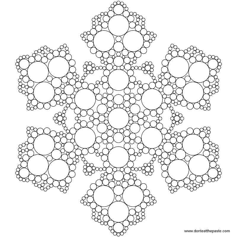 800x800 Printable Snowflake Coloring Pages