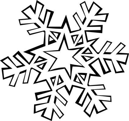 424x400 Snowflake Coloring Pages Snowflake Coloring Page Needle Punch