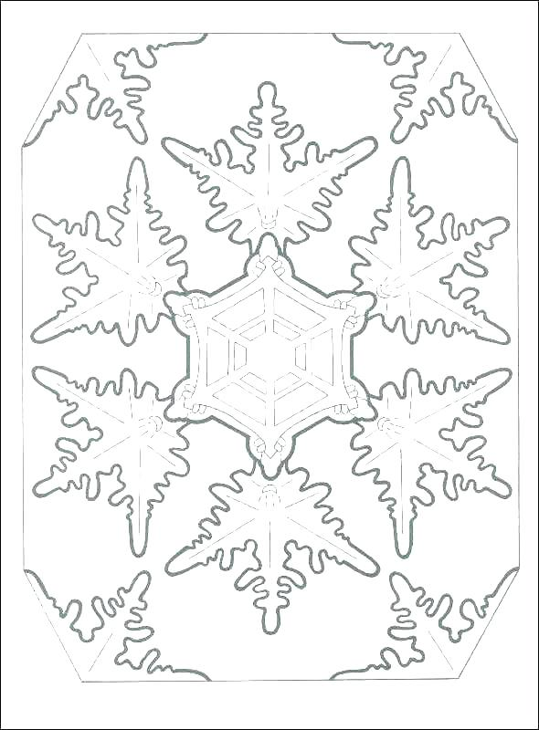Snowflake Coloring Pages For Kids at GetDrawings.com | Free ...