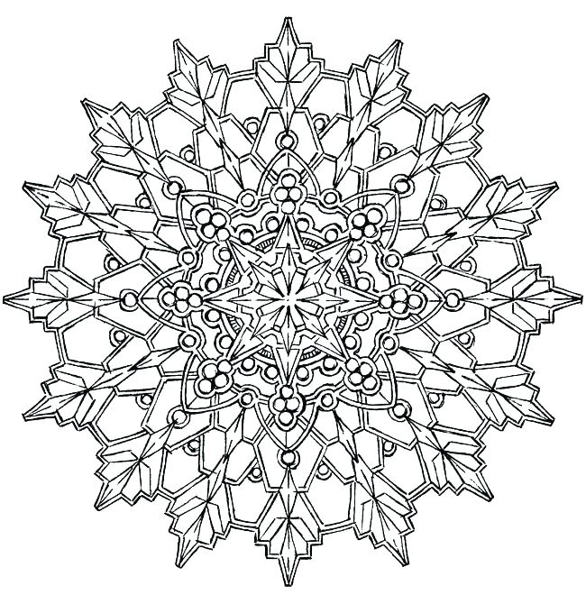 650x670 Coloring Pages Of Snowflakes Coloring Pages Of Snowflakes