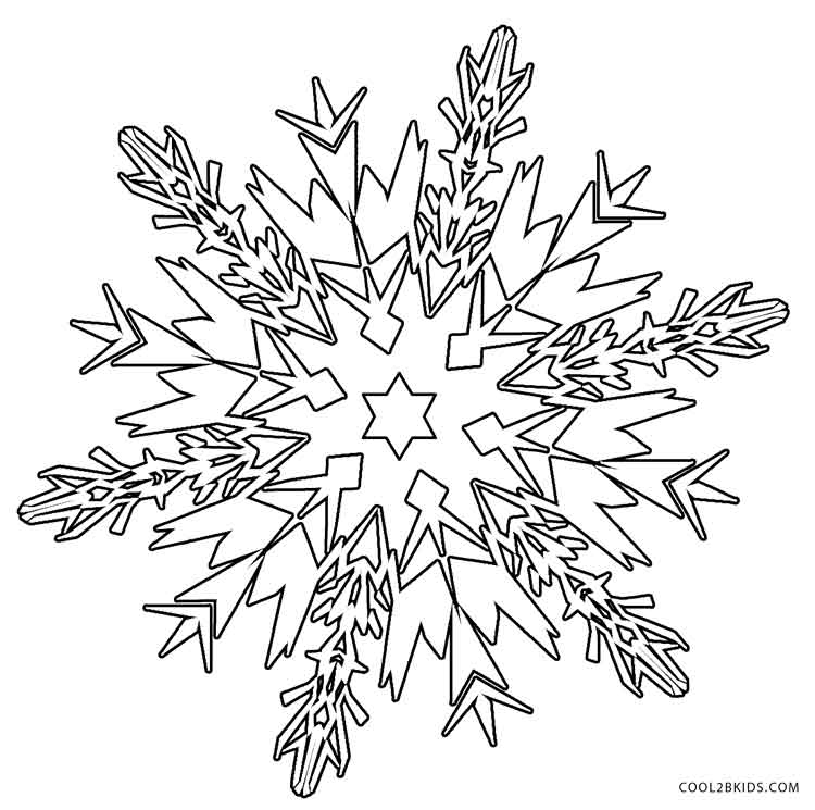 750x745 Printable Snowflake Coloring Pages For Kids