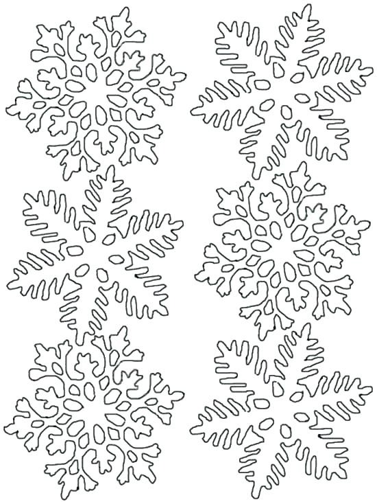 550x731 Snow Flake Coloring Page Snowflake Coloring Pages For Kids