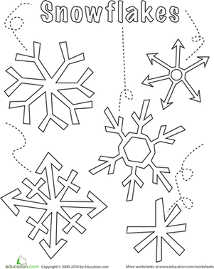 301x378 Snowflake Coloring Page Worksheets, Paper Snowflake Designs
