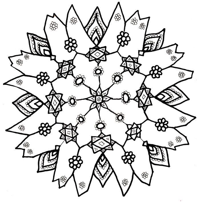 700x728 Snowflake Coloring Pages