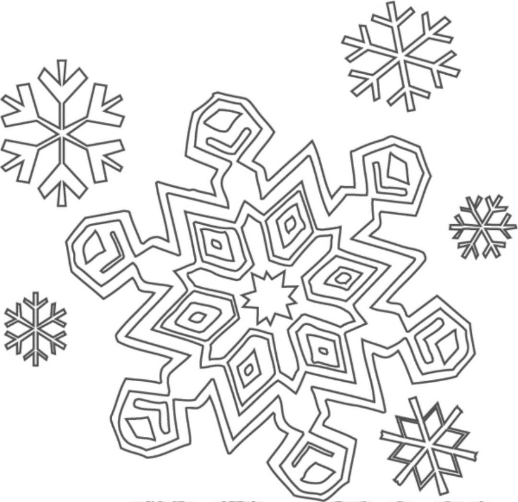 1024x994 Snowflake Coloring Pages For Preschoolers