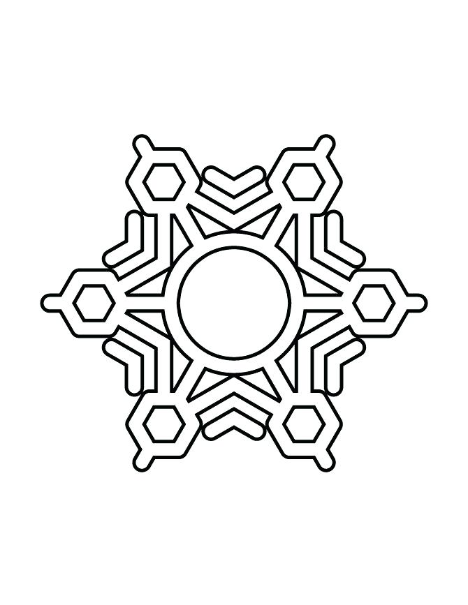 670x867 Snowflake Coloring Pages Limited Snow Flake Coloring Pages
