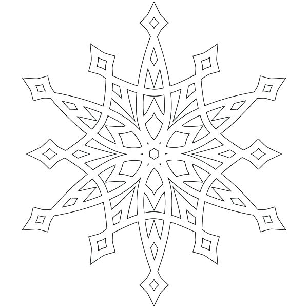 600x600 Snowflake Coloring Pages Snowflake Coloring Pages Free Printable