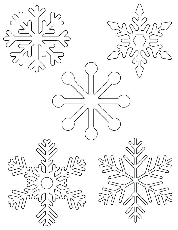 742x960 Snowflakes Coloring Page Coloring Snowflakes Snow Flake Coloring
