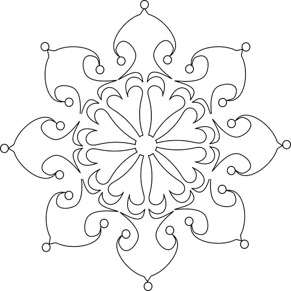 600x600 Snowflakes Coloring Pages Beautiful Snowflakes Coloring Page