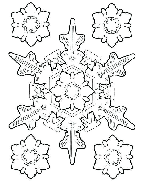 608x770 Coloring Page Snowflake