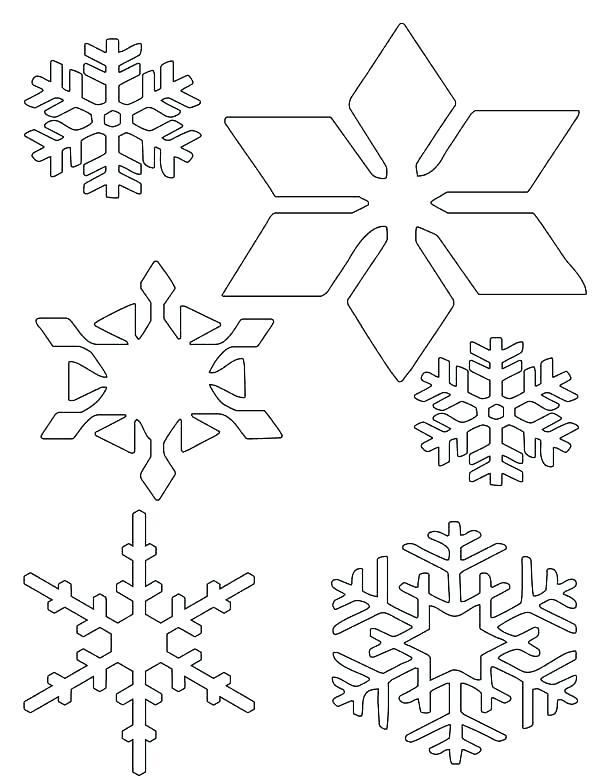 600x781 Snowflake Color Sheet