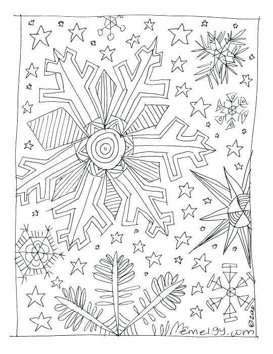 Snowflake Coloring Pages For Preschoolers At Getdrawings Com Free