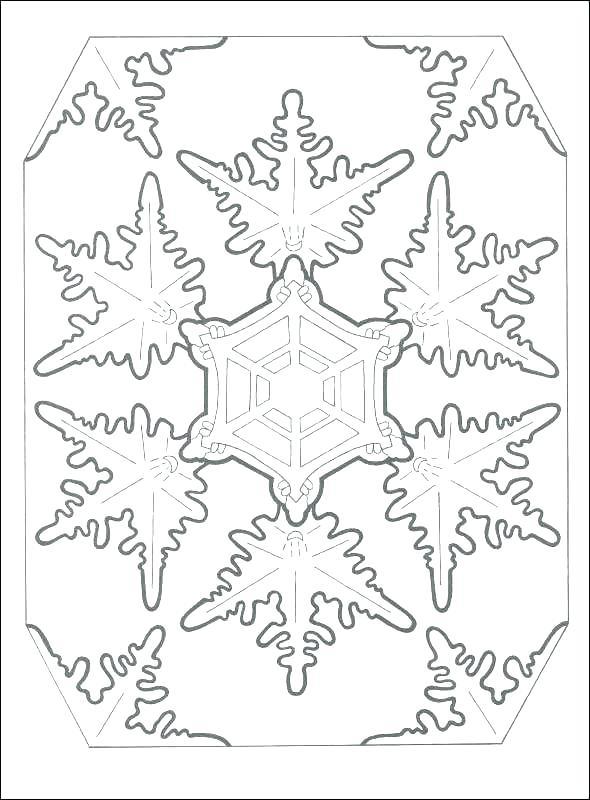 590x800 Snowflake Coloring Sheets
