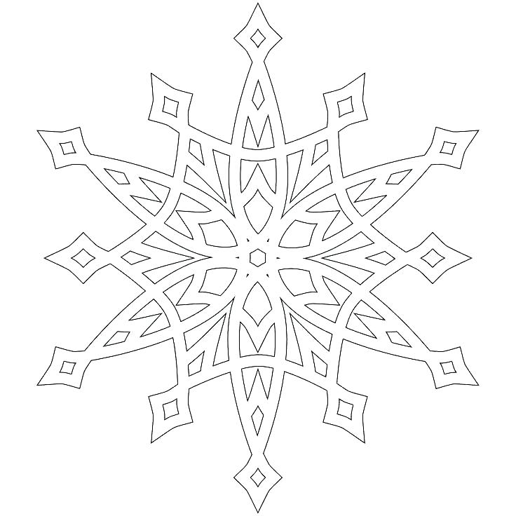 736x736 Coloring Pages Of Snowflakes Snowflake Colori Pages Snowflake Book