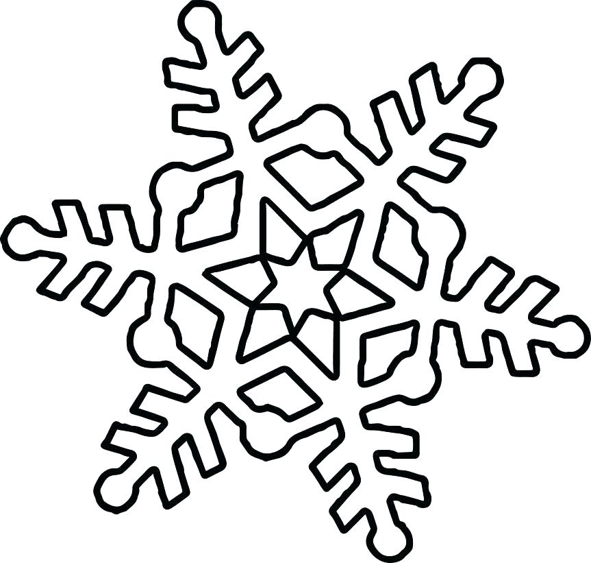 863x821 Printable Snowflake Coloring Pages Cute Snowflake Coloring Page
