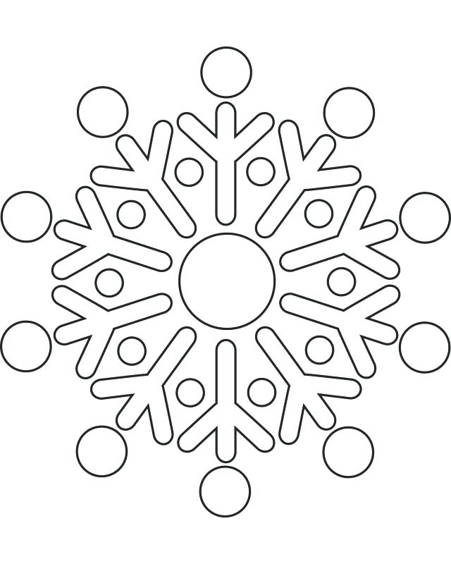 640x800 Snow Flake Coloring Page Free Printable Snowflake Coloring Pages