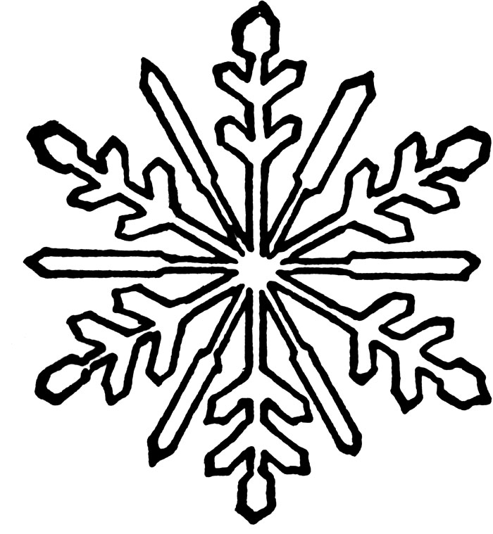 700x759 Snowflake Coloring Pages