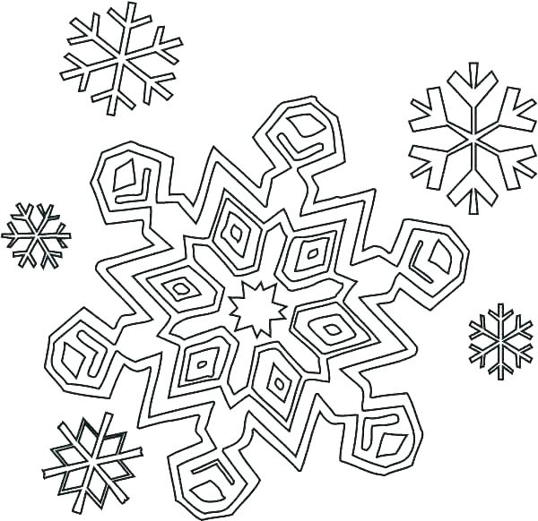 600x582 Snowflake Coloring Pages For Kindergarten Printable Snowflake