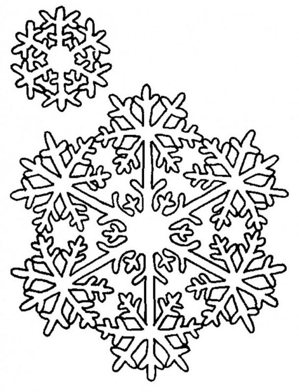 610x800 Snowflake Coloring Pages Printable Snowflake Coloring Pages