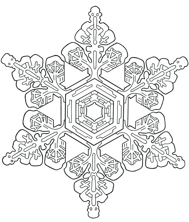 650x765 Snowflake Coloring Pages Snowflake Coloring Pages Snowflake