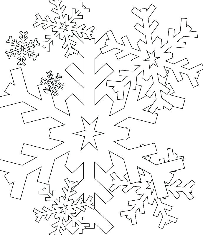 689x800 Snowflake Coloring Pages Winter Season Snowflakes Coloring Page