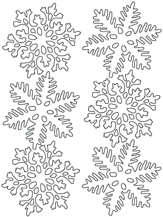 550x731 Coloring Page Snowflake Snowflake Coloring Pages Two Identical