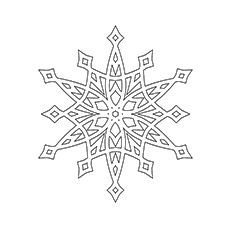 230x230 Top Snowflake Coloring Pages For Your Little Ones