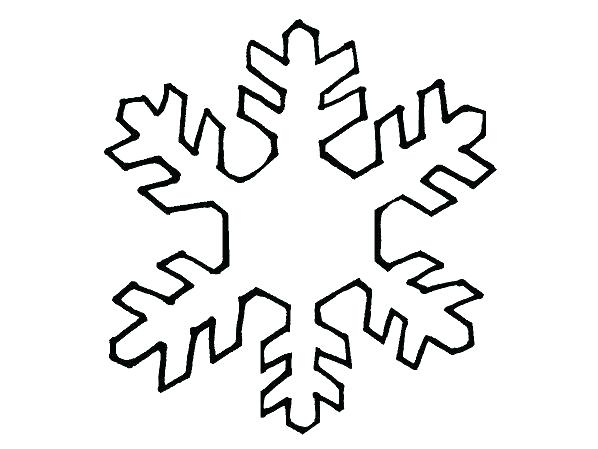 598x449 Coloring Pages Snowflake